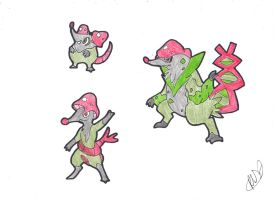 AUCTION: Chemestry Shrews by Papermachei