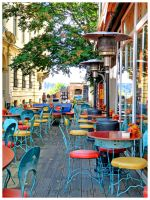 colourful chairs..--- by burcyna