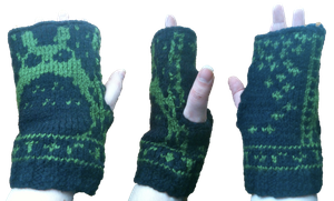 Midnight Forest Totoro Mitts by Vivacia18