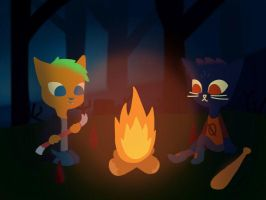 Night In The Woods With Jack by katmiko325