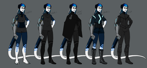 Jackdaw human form + outfits by annicron