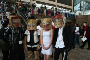 Paper bag heads... by Witch-Hunter-87