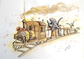 Oi o trem by Livia-Stocco