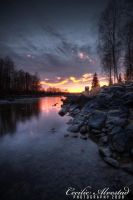Frosty sunset_II_HDR by Cecalv-Photo
