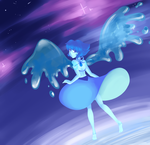 .: WIP :. Lapis in Space by iScribbleChocotroll