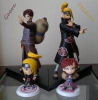 Gaara - Deidara Action And Chibi Figures by ng9
