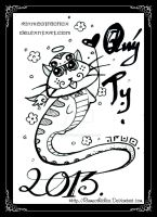 Stupid cat and the year of the snake by Rinmeothichca