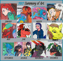 SpellboundFox's Summer of Art 2012 by SpellboundFox