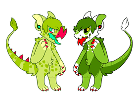 Camelion Monster {auction} 1/2 OPEN by LoserDoge