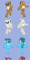 Eeveelution Minecraft Skins by DarkShinyCharizard
