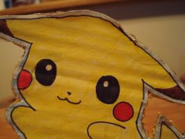 Close Up of Pikachu's Face by tinani81600