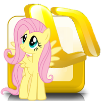 outlook icon - fluttershy by spikeslashrarity