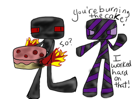 The Cake by ask-enderman