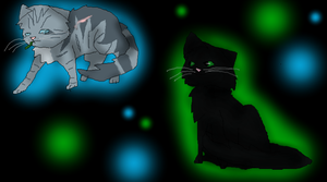 Hollyleaf and Jayfeather by RockpeltThunderClan