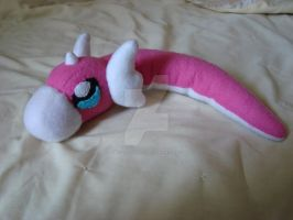 Shiny Dratini Pokemon Plush by Dark-and-One-Other