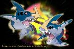 Fake mega evo -  Mega Sharpedo by badafra