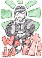 MIGHTY No9 - WE DID IT 2 - COLOR by mdkex