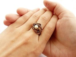 Ring with pearl by UrsulaOT