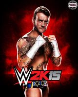 WWE 2k15 Cover Ft. CM Punk by AY by AyBenoit12