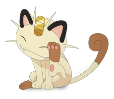 Meowth by artchronos