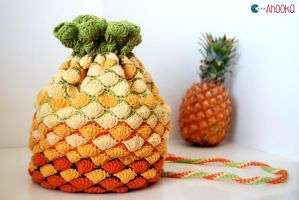 Pineapple crochet back v2.0 by Ahookamigurumi
