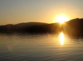 Sunset over Lake Windermere by SquirrelGirl111