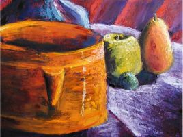 Pots with Palette Knife by LeoEyes