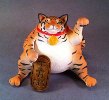 Super lucky...fat? little tiger special edition by Bakenekoya