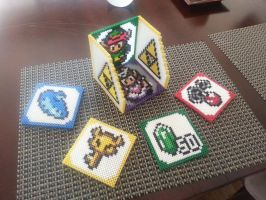 Zelda Link to the Past Coaster Set w/ Holder by Michahay