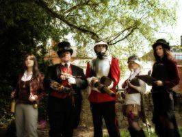 Kitacon: Steampunk Group by NekoFlameAlchemist