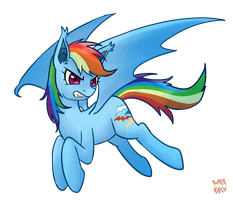 Rainbow Dash Bat by norang94