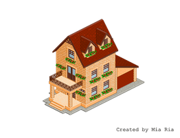 Pixel Art. Isometric. House 1 by MimiMiaART