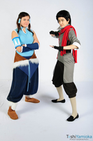 Korra and Mako by Riku-Ryou
