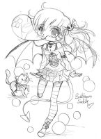 Bubblegum Suka Chibi Commission - Sketch by YamPuff
