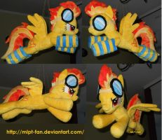flying Spitfire with socks and goggles by MLPT-fan