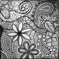 Paisley sur toile  by EndsDeSigns