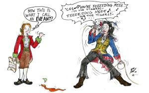 Amy's Art Jam: Gundula dressed as Adam Ant by PaulEberhardt
