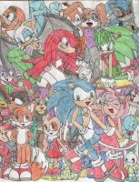 Sonic All Stars piccy by SamCyberCat