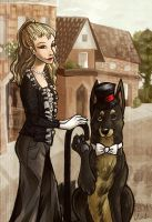 A lady and her gentleman by wolfie-janice