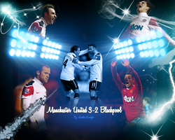 Manchester United vs Blackpool by onlmileyrcyrus