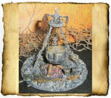 Creepy Miniature Witch Firepit by grimdeva