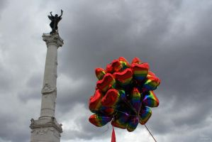 Gay Pride balloons 3 by AuroraxCore