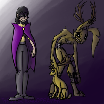 Sorcerer!William/Jackalope!Springtrap|Fantasy AU by TheQuizzicalDreamer