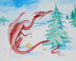 Even Dragons Get Holidays by telynBach