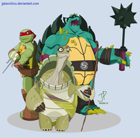 Raph and... Spike? by jptanchico
