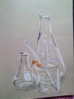 Chemistry Glassware by LilithVallin