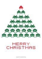 Space Invaders Merry Christmas 13 by hence72