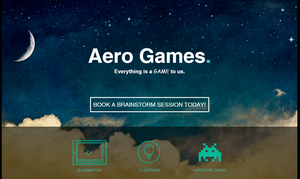 Landing page Aero Games by LuckyBastaveren