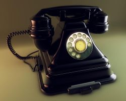 Cinema 4D Retro Phone by TonyHarris