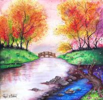 Colorful river by Rakisan-Art